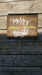 Christmas decor - Merry and Bright