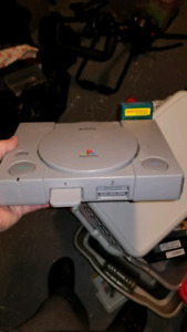 PlayStation 1 ps1 with dvd game thinggy