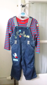 In The Night Garden dungarees with jumper and socks
