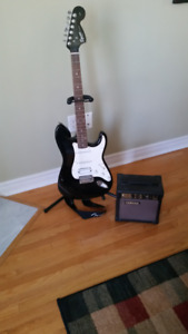 Fender Guitar and Yamaha amp