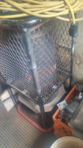 propane heater and commercial 110 blue fan and tiger torch
