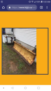 7foot Fisher plow with mount bracket and controls and pump