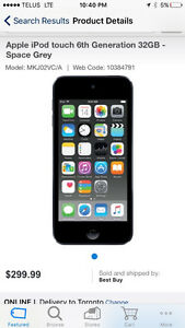 Brand new Apple IPod Touch 6th Generation 16GB $220 firm.