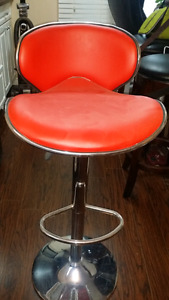 Barstool red leather chair for sale