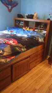 Captain's Bed,double(full)size,new price 350$ or b.o. Gatineau Ottawa / Gatineau Area image 2