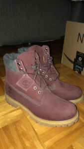Timberland burgundy 10.5 perfect condition worn once