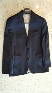 Banana Republic Fully Canvassed Tailored Fit Navy 2 pc Full Suit