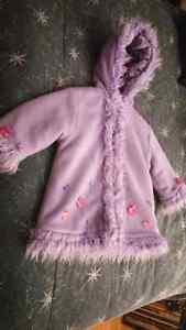 Girl's Cozy Purple Coat Size 4