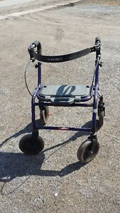 FOLDING WALKER WITH SEAT & WHEELS  new price