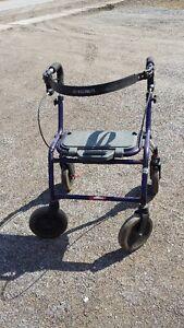 FOLDING WALKER WITH SEAT & WHEELS