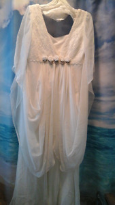 Angel wing wedding gown