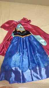 Anna dress with Cape  frozen from Disney store size 5/6