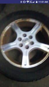 Chev 6 bolt rims with tires