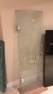 Seamless glass shower door 66 x21.4 inches