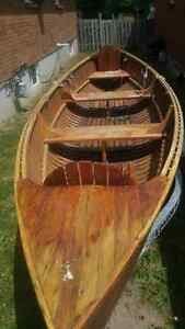 old wooden rowboat (giesler) 15'