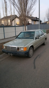 1985 mercedes 190D with 5 speed manual