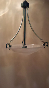 Dining room chandelier and hallway ceiling light (two lights)