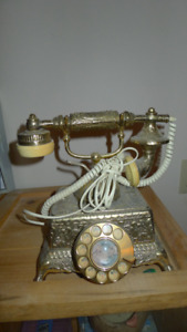 French Victorian wall plug in phone