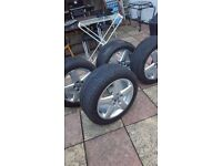 AUDI ALLOY WHEELS WITH WINTER SNOWMASTER 225/50/17 TYRES X 4