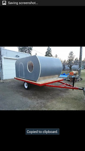Utility trailer with removable camper