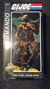 Sideshow GI JOE SNAKE EYES EXCLUSIVE  Figure Mint with Box g.i.