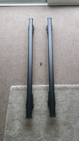 Steel roof rack bars, attach to flush rails