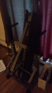 foldable weight bench with bar and weight set