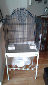 Large Bird Cage & Stand etc.