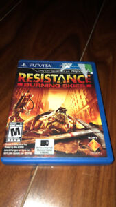 PS vita game 30 FIRM.  Resistance