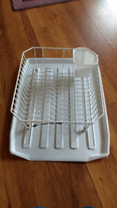 Dish drying rack and tray