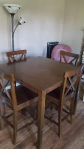 Table and High back chairs