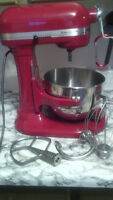 Red Kitchenaid Professional HD Mixer
