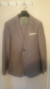 Grey Satin Suit slim fit men 34R