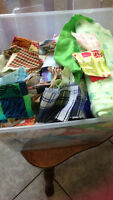 Several small pieces quilting fabric