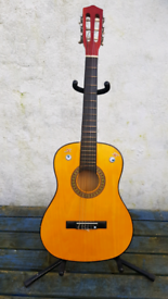 GUITAR SUITABLE FOR CHILD WITH FREE STAND