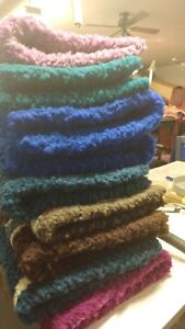 HAND HOOKED 100% WOOL SADDLE PADS