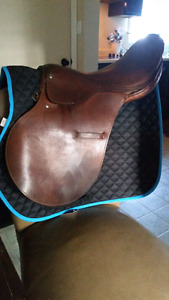 "18"" sturdy english saddle for trade or sale"