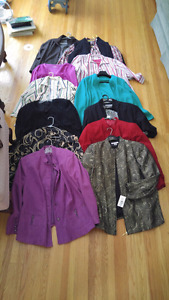Ladies Light Coats & Long sleeved Tops - new/nearly new 2X