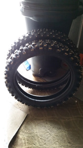 Hardly Used Studded Dirtbike Tires