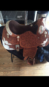 5 year old Billy Cook show saddle 16.5' seat, $2200 obo