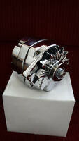 NEW 10SI CHROME ALTERNATOR  100Amp  SB SMALL BLOCK CHEVY