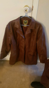 Faux leather jackets!