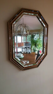 EXQUISITE BEVELLED DECORATIVE GOLD TRIM MIRROR