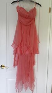 Hi-lo pink dress
