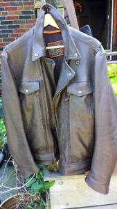 LEATHER MOTORCYCLE JACKET - CLASSIC MEN'S W/ FREE CHAPS