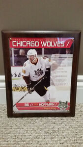 Autographed Mike Hoffman Chicago Wolves Photo Plaque