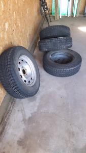 245 70 r17 blizzak tires Durango rims