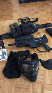 Paintball Gear Tippman x7 + Mask, Belt, Pods
