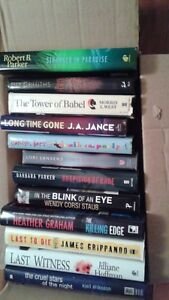 12 hardcover mystery fiction books Peterborough Peterborough Area image 1