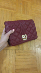 BCBG Quilted Red Purse